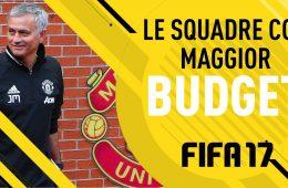 Fifa 17 Squadre con cui iniziare la carriera Maggior Budget