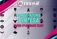 Come funziona l'intesa in FIFA 19 Ultimate Team