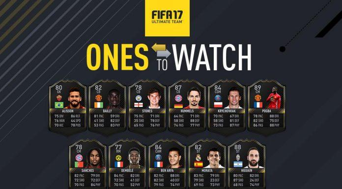 FUT Ones To Watch Fifa 17