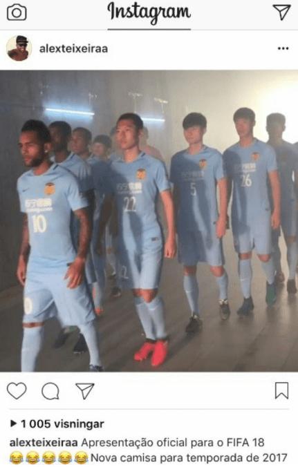 Alex Texeira Fifa 18 Chinese Super League