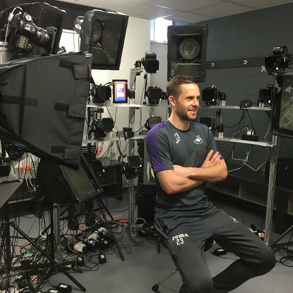 I giocatori dello Swansea alle prese con i face scan per Fifa 18