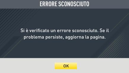 Errore Mercato FIfa 17 Ultimate Team