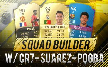 Squad Builder CR7 Suarez Pogba