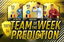 TOTW Team of the Week 34 Prediction NMF