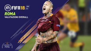 Fifa 18 |  le valutazioni overall dei giocatori della Roma
