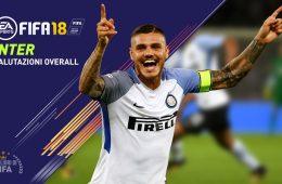 Fifa 18 valori giocatori Inter Overall