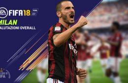 Fifa 18 valori giocatori Milan Overall