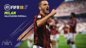 Fifa 18: le valutazioni overall dei giocatori del Milan