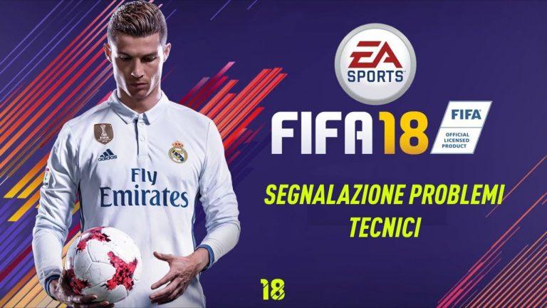 Fifa 18: segnalazione problemi tecnici e di connettività ai