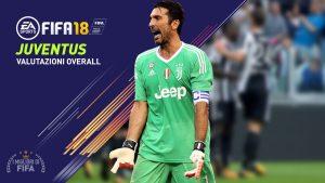 Fifa 18 Juventus |  le valutazione overall di tutti i giocatori!