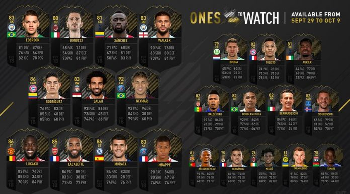 Ones to Watch Fifa 18