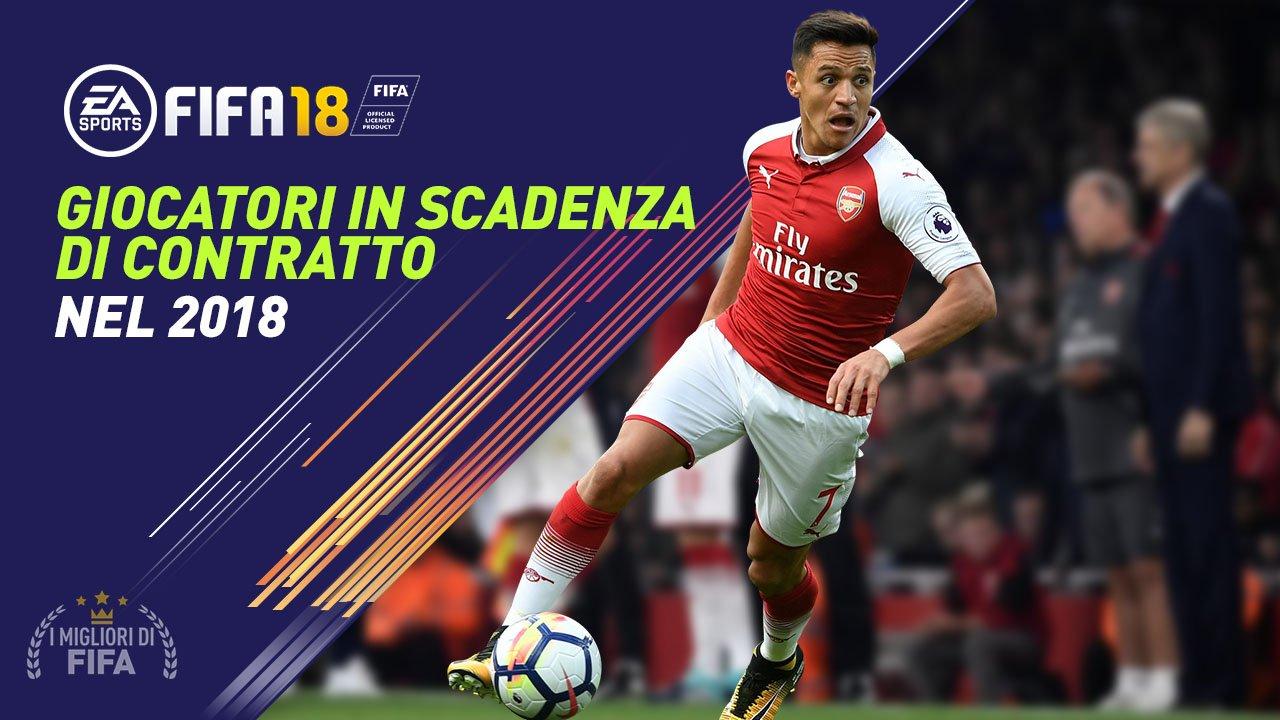 Giocatori in Scadenza di contratto nel 2018 in Fifa 18