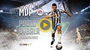 Fifa 18 |  Paulo Dybala è il giocatore del mese della Juventus