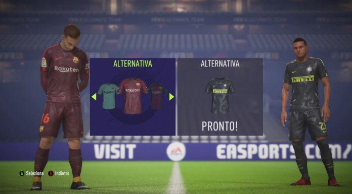 Fifa 18 Terze Maglie Inter Barcellona Nike