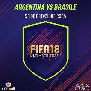 """Fifa 18 Sfida Creazione Rosa """"Argentina vs Brasile""""    le soluzioni"""