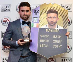 """Fifa 18: Sean Maguire vince il premio come """"Giocatore irlandese dell'anno"""". Attivava una SBC per la sua card POTY!"""