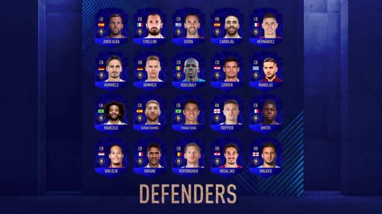 Difensori TOTY FIFA 19