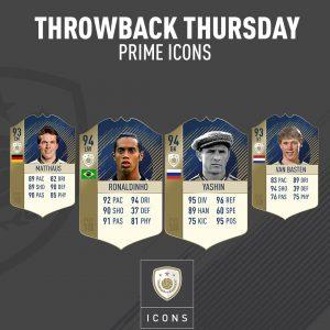 """Fifa 18: disponibili le Icone in versione """"Prime"""" di Matthaus, Ronaldinho, Yashin e Van Basten"""