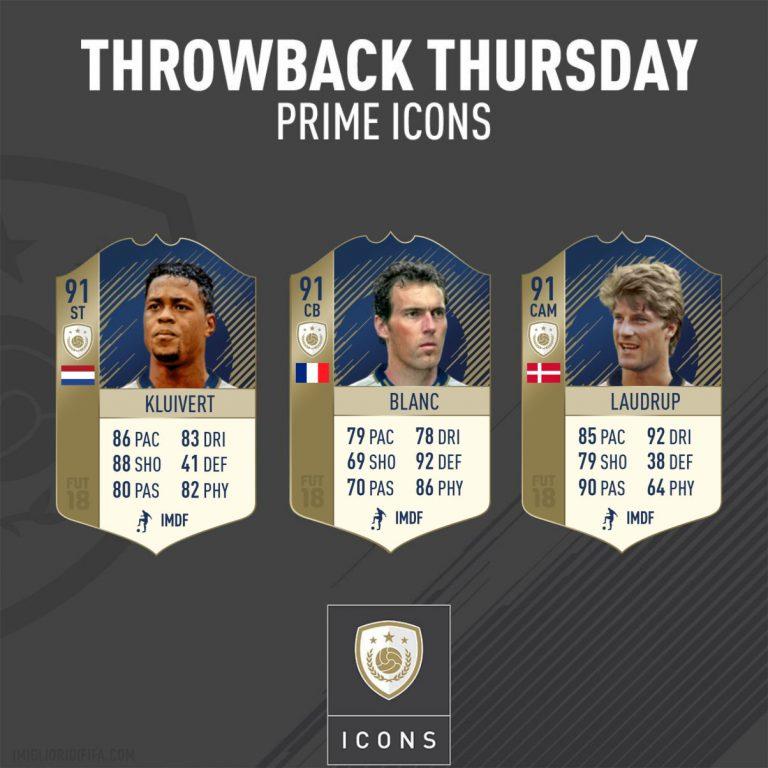 Fifa 18 |  rilasciate le versione Icon Prime di Blanc |  Laudrup e Kluivert Ecco le soluzioni