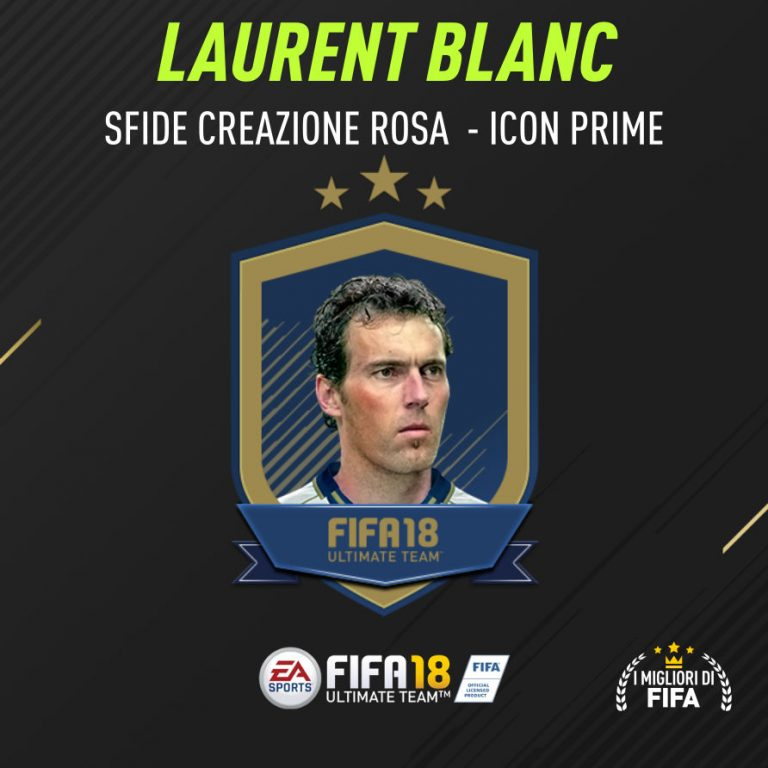 """Fifa 18 Sfida Creazione Blanc Icon """"Prime"""""""