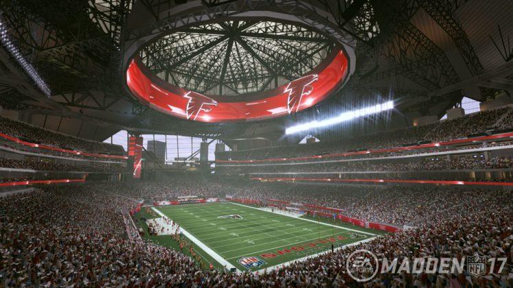 Il Mercedes-Benz Stadium di Atlanta