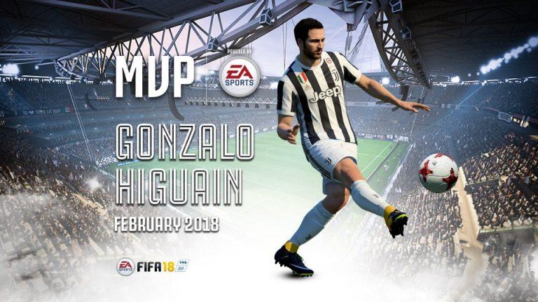 Fifa 18 |  Gonzalo Higuain è il giocatore del mese della Juventus di Febbraio