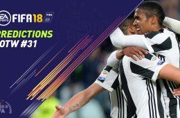 FIFA 18 TOTW 31 Predictions