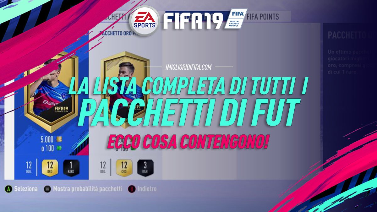 Fifa 19 Pacchetti Lista Completa