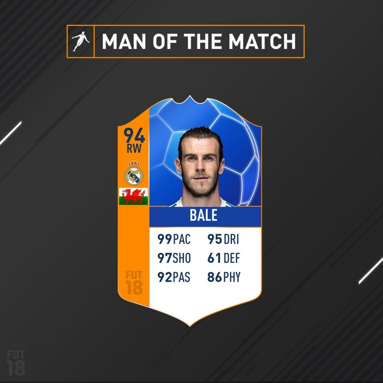 "Fifa 18: disponibile la card di Bale ""Man of the Match"" – Uo"