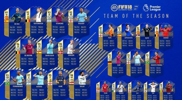 TOTS PREMIER LEAGUE FIFA 18