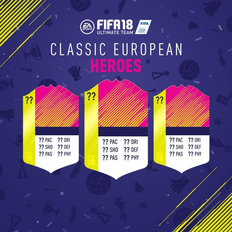 Fifa 18: il 22 giugno arrivano i Classic European Heroes, i