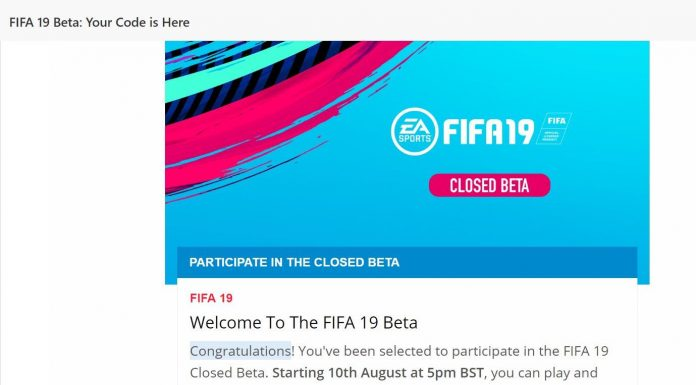 Fifa 19 - Closed Beta