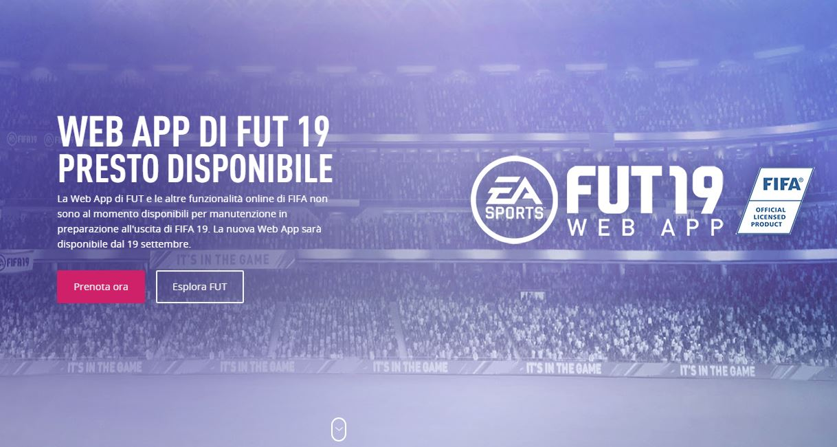 Web App FIFA 19