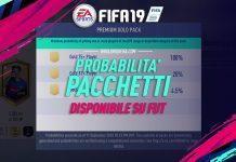 Fifa 19 Probabilità pacchetti fut