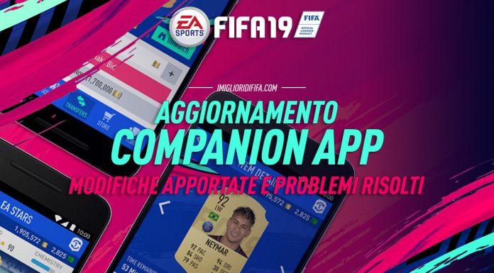 Fifa 19 Companion App Aggiornamento Patch