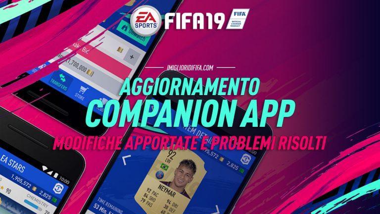 Fifa 19: nuovo aggiornamento Web App e Companion App disponi