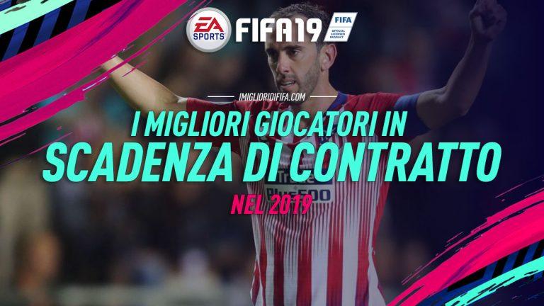 Fifa 19: i giocatori in scadenza di contratto nel 2019