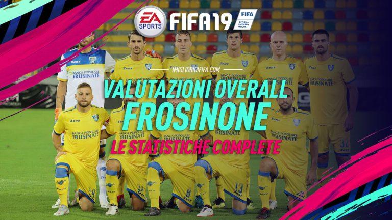 Fifa 19: overall e statistiche dei giocatori del Frosinone