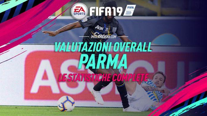 Valutazioni overall Parma