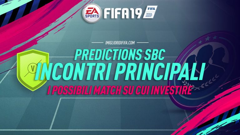 """Fifa 19: Predictions Sfide Creazione Rosa """"Incontri Principa"""