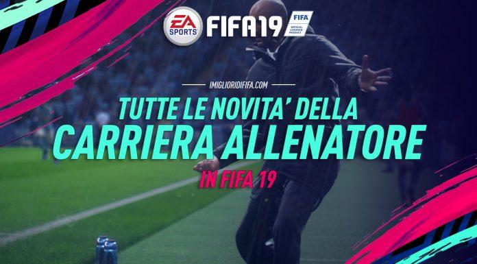 Novità carriera allenatore in FIFA 19