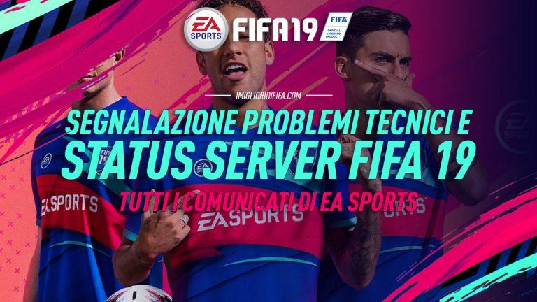 Fifa 19: segnalazione problemi tecnici e di connettività ai