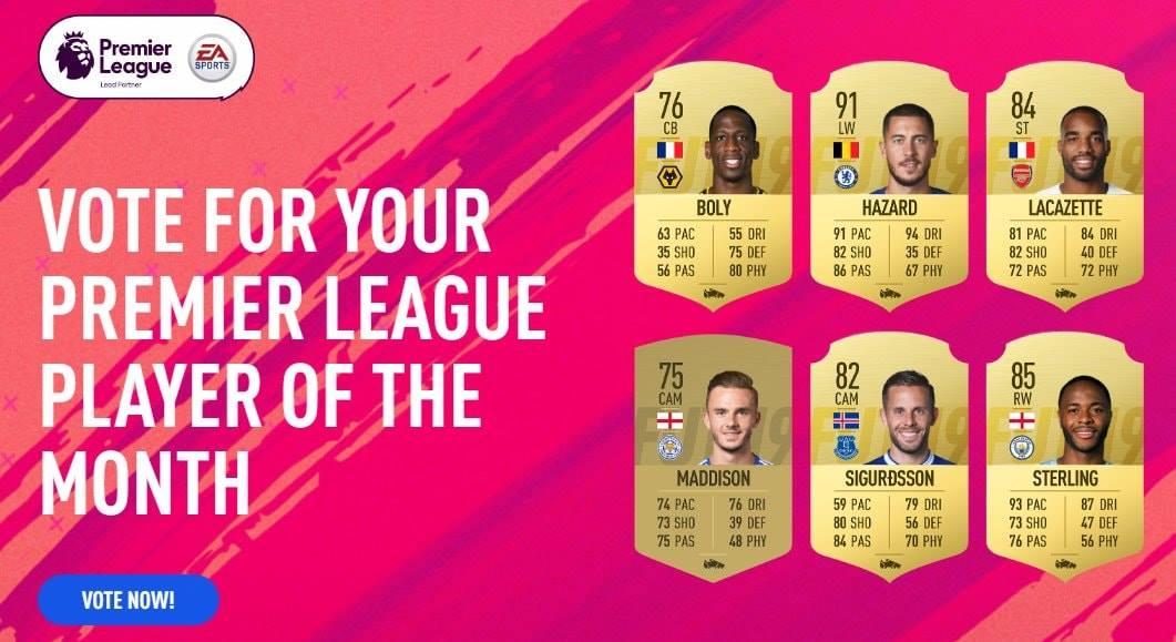 Fifa 19 POTM Settembre Premier League