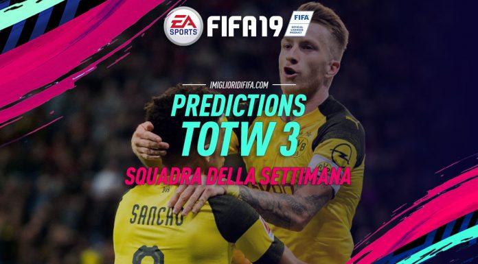 Predictions TOTW 3 FIFA 19 Squadra della Settimana
