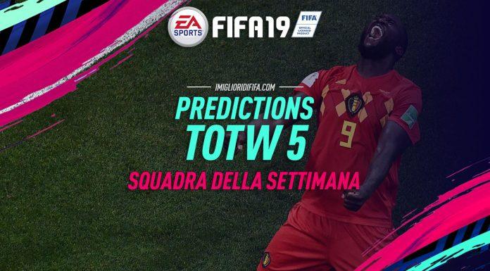 Predictions TOTW 5 - FIFA 19