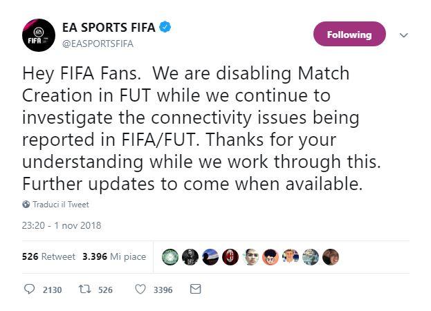 Fifa 19: Status Server EA e segnalazione problemi tecnici