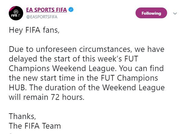 Posticipata Weekend League