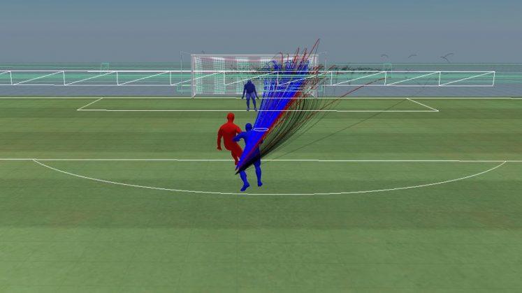 Pressione difensiva: difensore situato alle spalle, dopo la patch