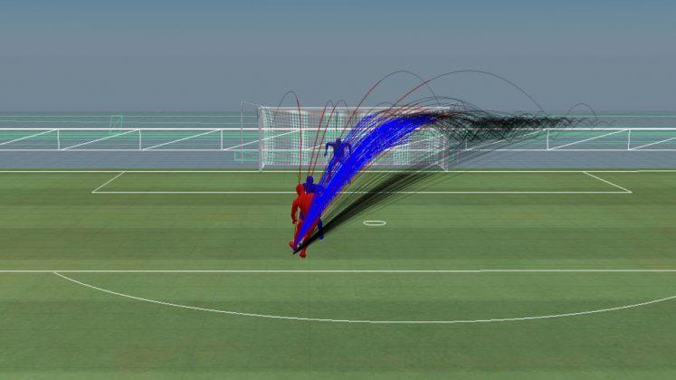 Pressione difensiva: difensore situato di fronte, prima della patch