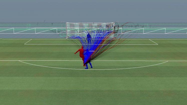 Pressione difensiva: difensore situato alle spalle, prima della patch